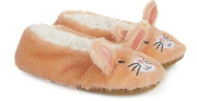 Pantuflas marrones de conejo