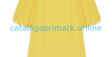 Top amarillo de hombros descubiertos