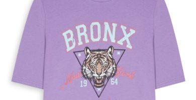 Top corto morado «Bronx»