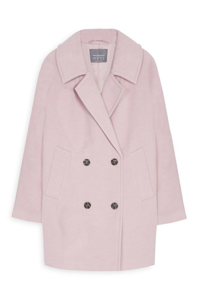 Abrigo retro abombado rosa