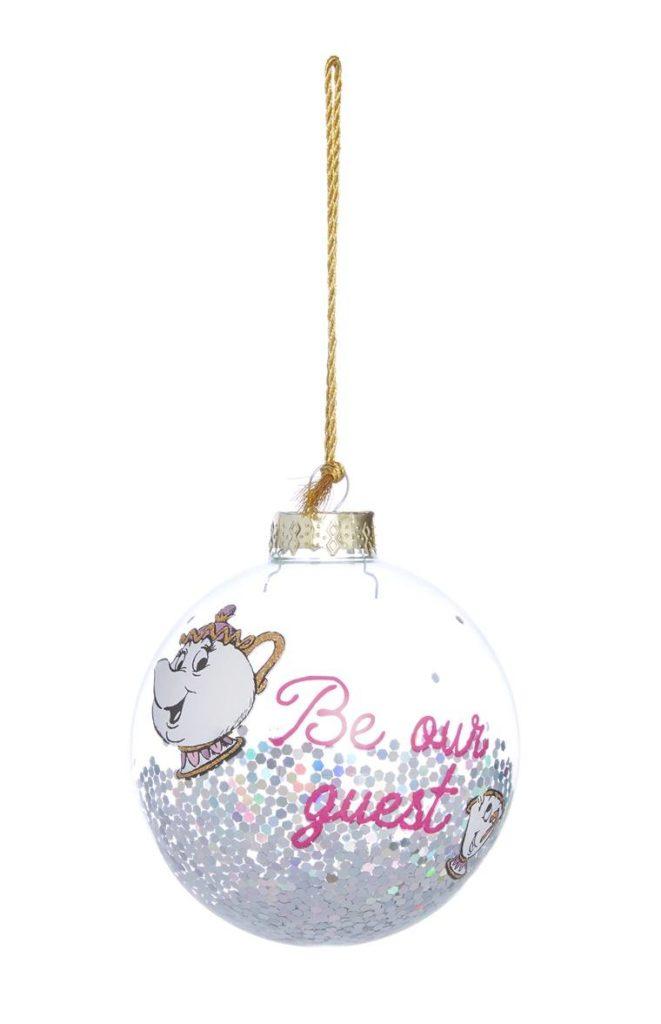 Bola de Navidad de La bella y la bestia
