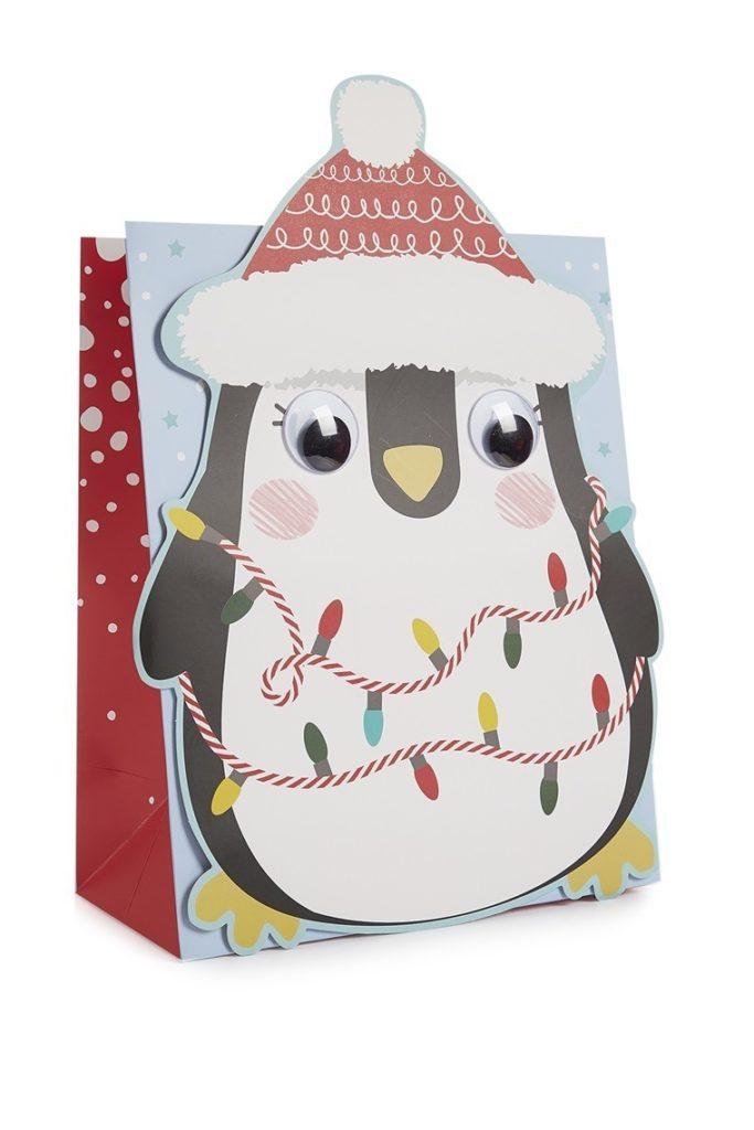 Bolsa de regalo de pingüino