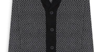 Cárdigan gris con negro