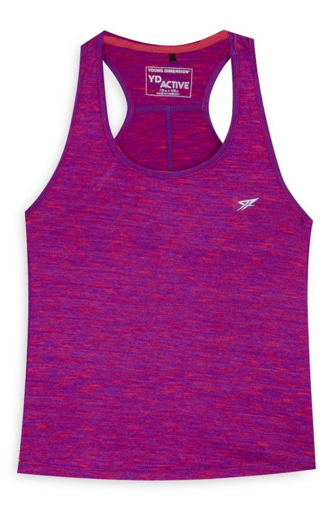 Camiseta de tirantes rosa de niña mayor