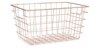 Cesta de almacenamiento de alambre de cobre