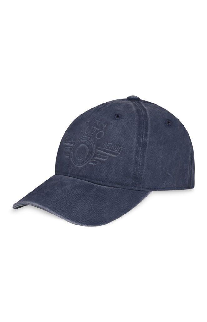 Gorra bordada azul efecto lavado