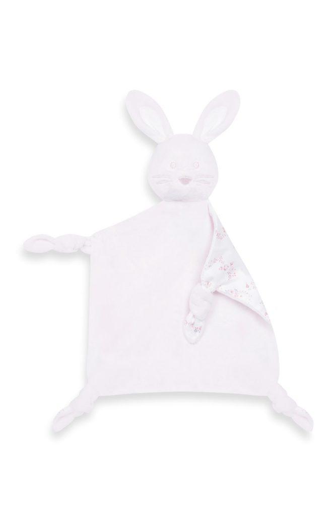 Mantita confort rosa con conejito