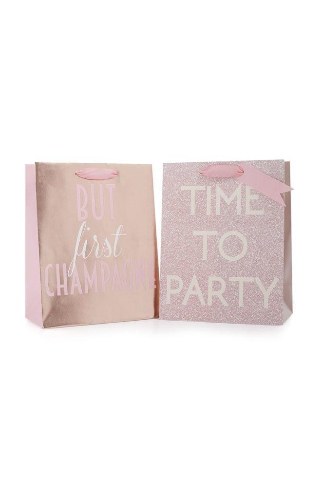 Pack de 2 bolsas de regalo