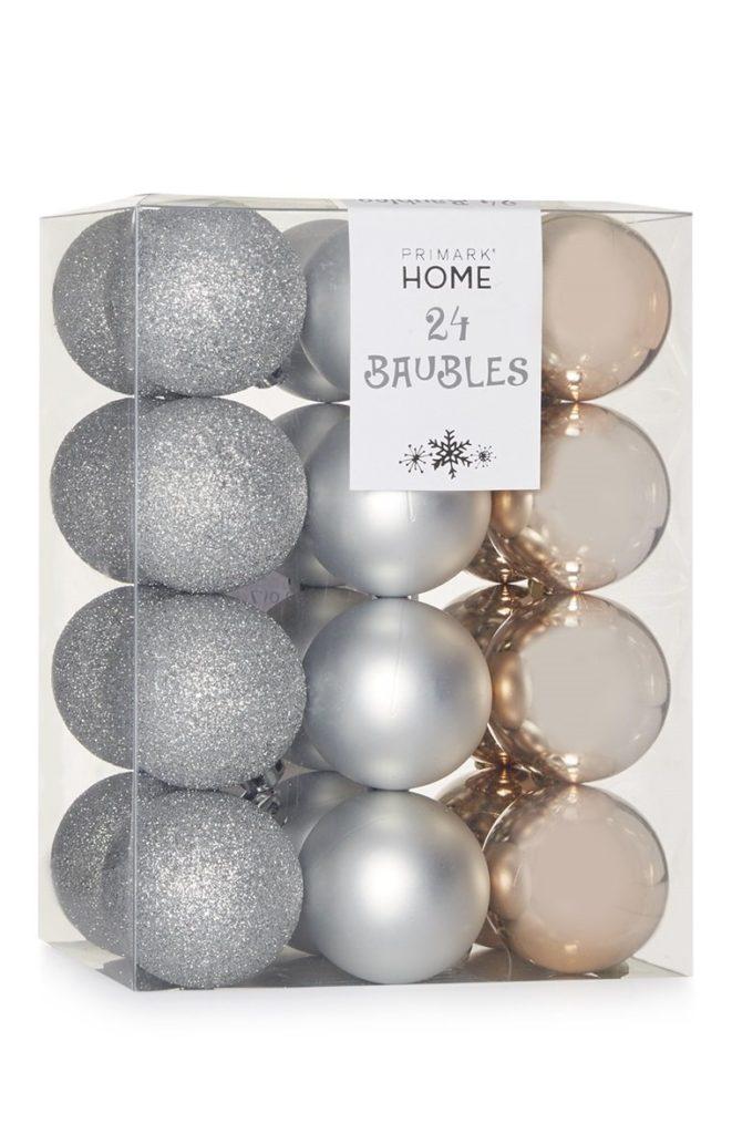 Pack de 24 bolas de Navidad variadas