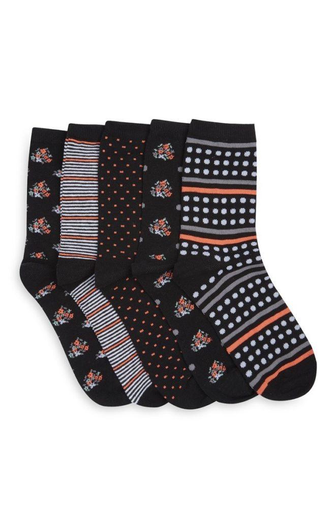 Pack de 3 pares de calcetines florales