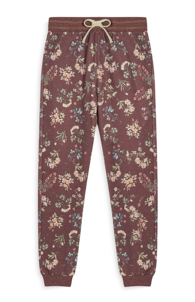 Pantalón de chándal de flores niña mayor