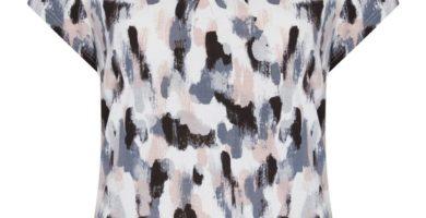 Pijama gris de patrón superior
