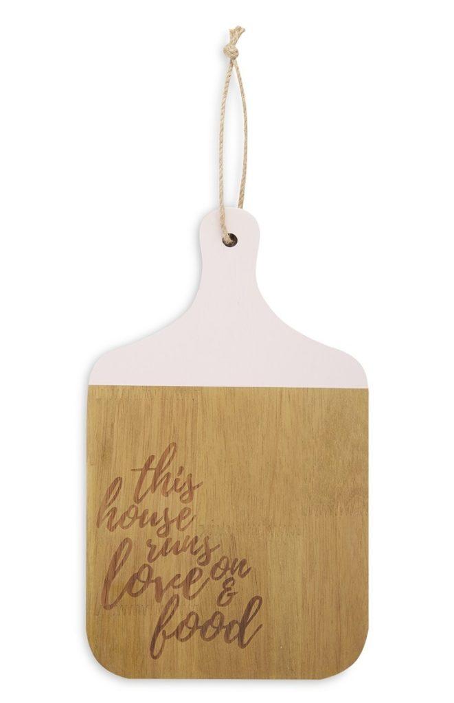 Tablero de madera con mensaje
