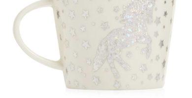 Taza de cerámica de unicornio