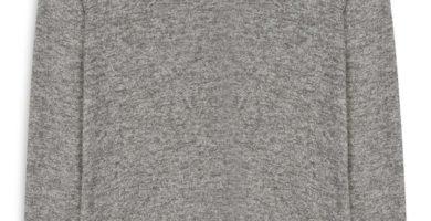 Top con cordones gris