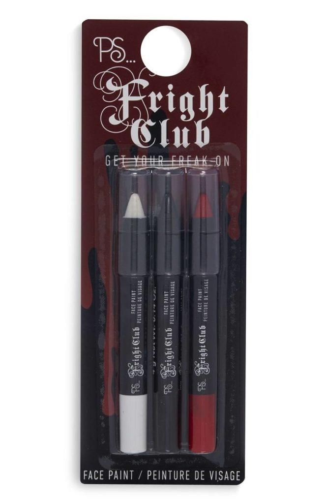 3 piezas de lápices de colores de cara de Halloween