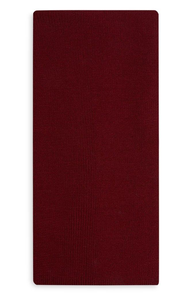 Bufanda acanalada roja