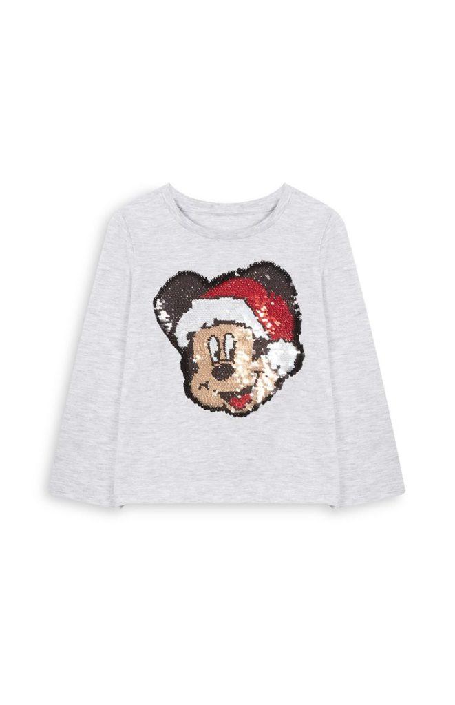 Camiseta con Mickey Mouse en lentejuelas