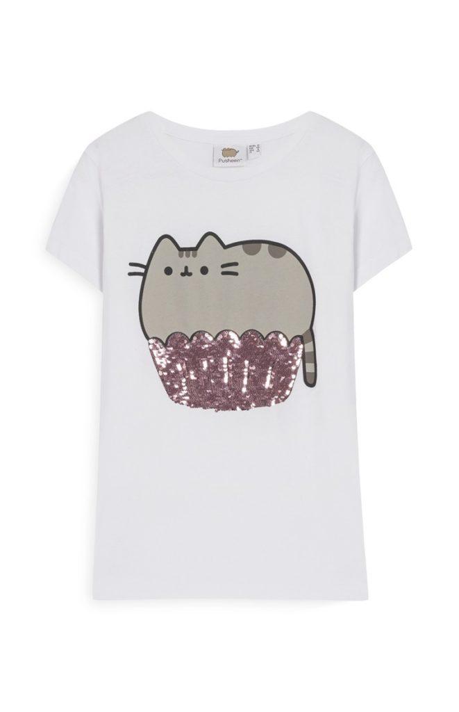 Camiseta con lentejuelas Pusheen