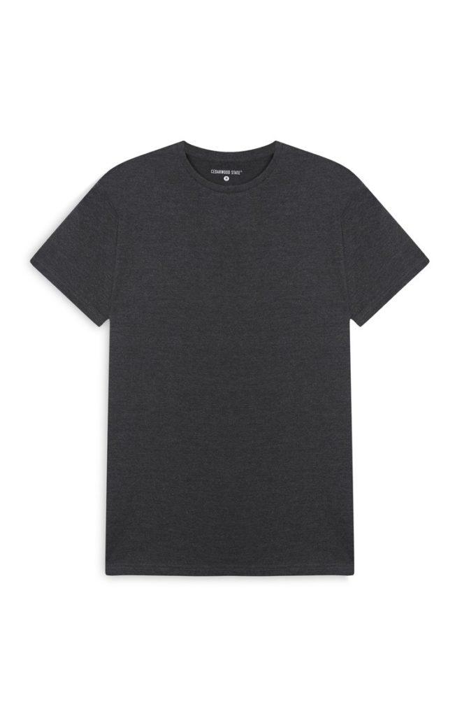 Camiseta gris con motas