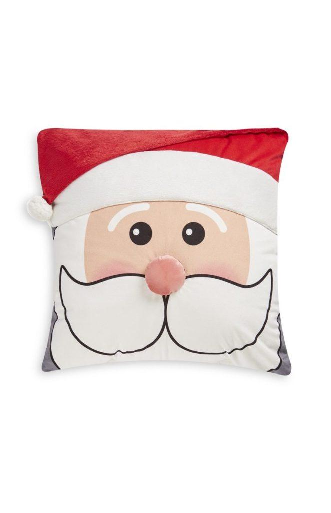 Cojín con cara de Santa Claus