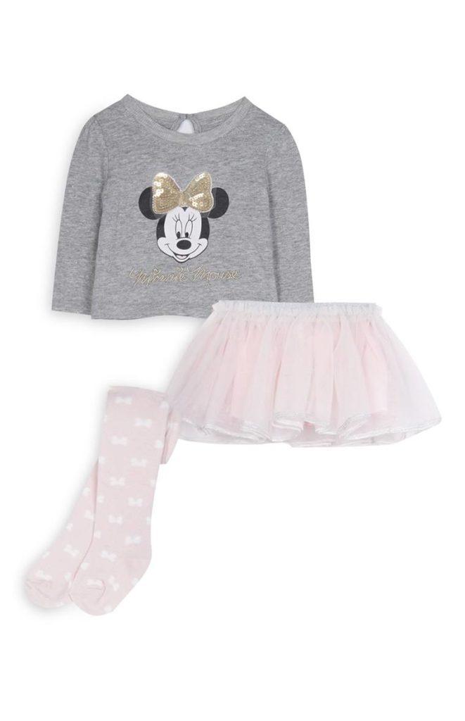 Conjunto de Minnie Mouse de niña