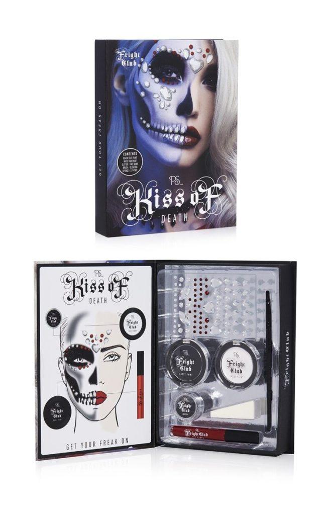 Conjunto de maquillaje de Halloween esqueleto