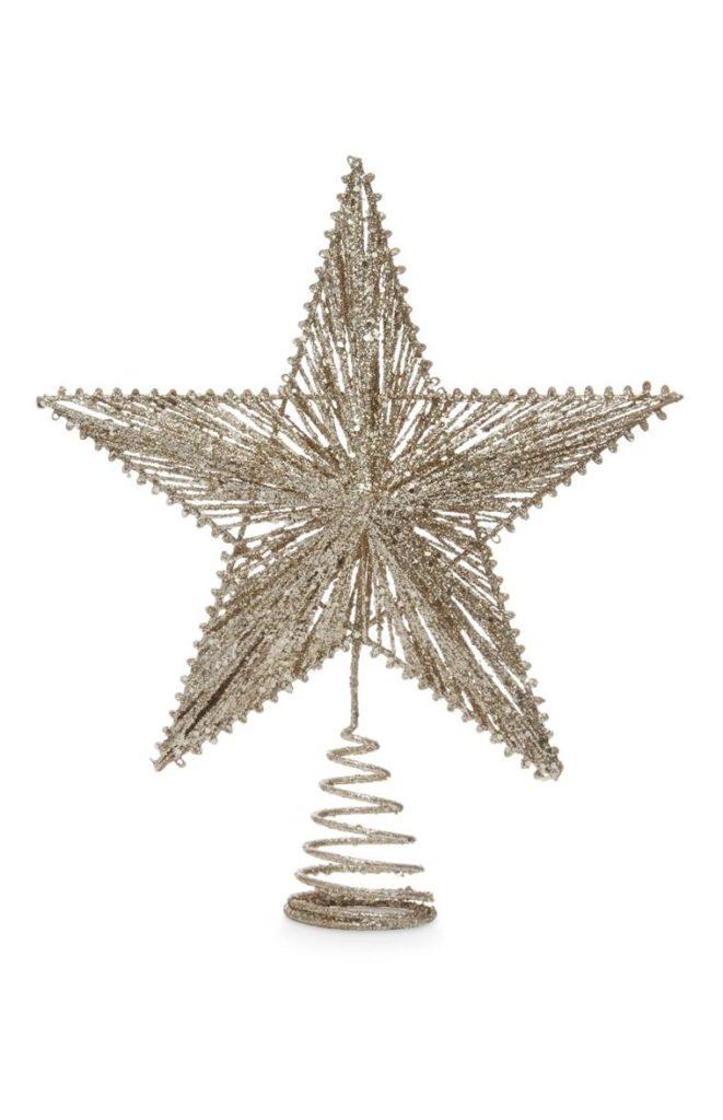 Estrella brillante para copa del árbol