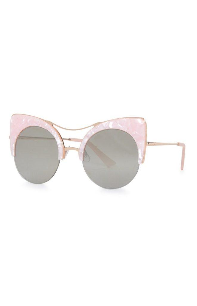 Gafas de sol estilo ojos de gato rosas