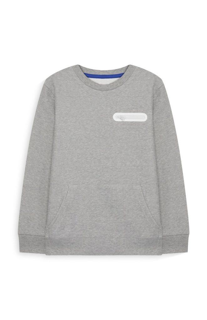 Jersey gris para niños