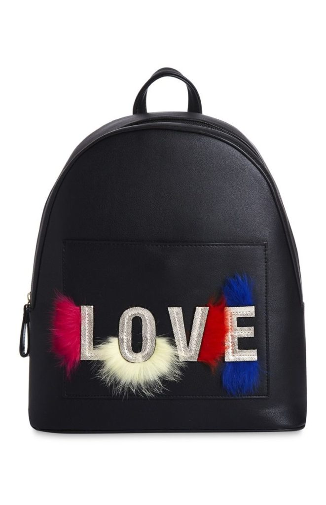 Mochila con eslogan «Love»