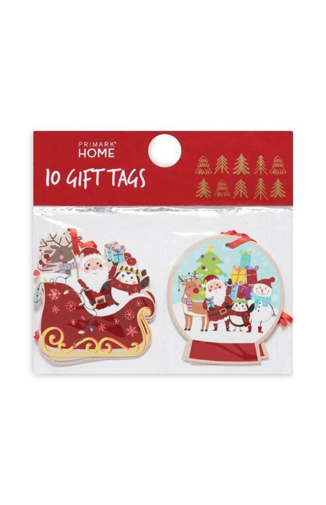 Pack de 10 etiquetas de regalo festivas