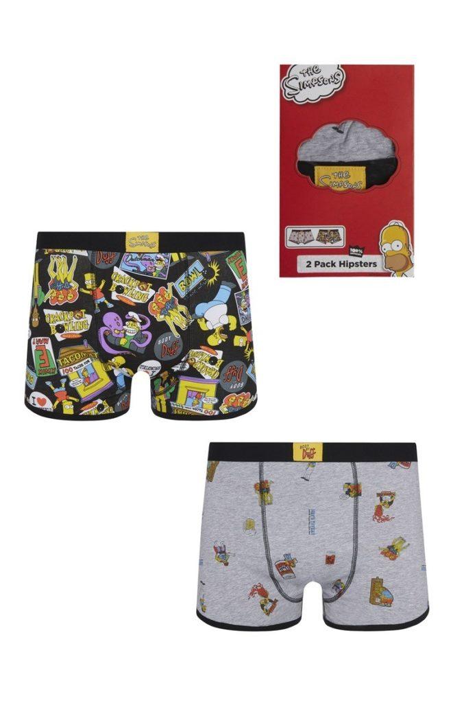 Pack de 2 calzoncillos de Los Simpson