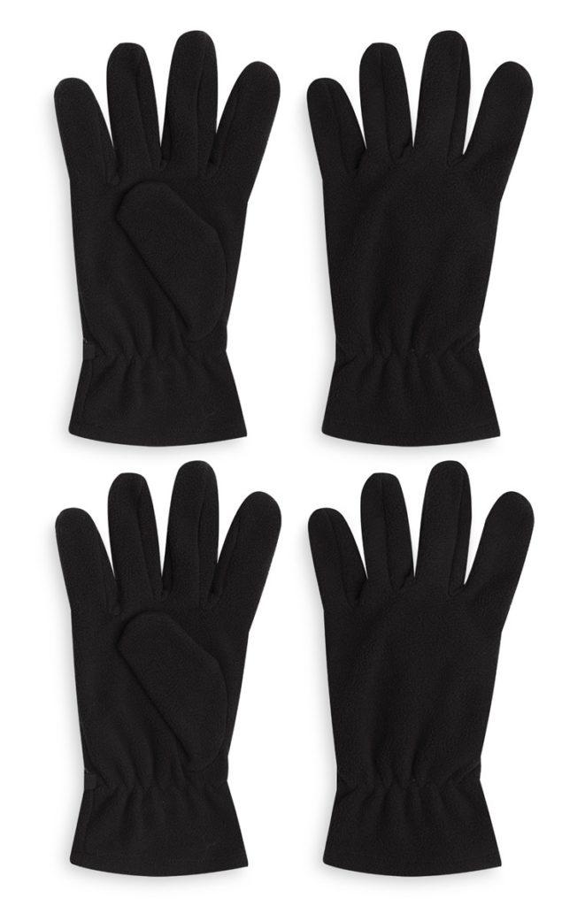 Pack de 2 guantes de lana