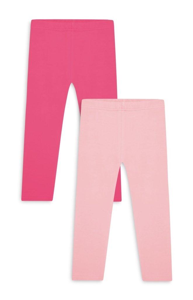 Pack de 2 leggings tobilleros bebé niña