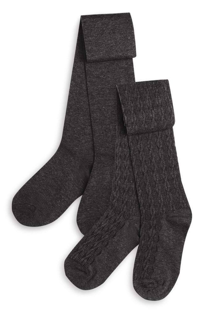 Pack de 2 pares de medias gris oscuro