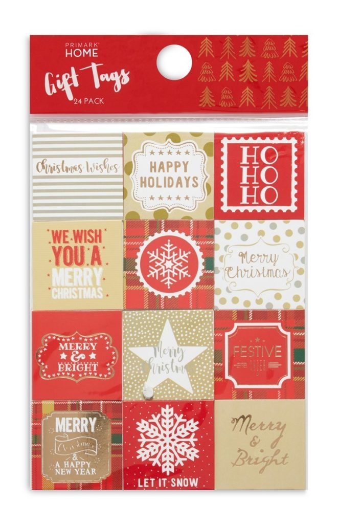 Pack de 24 etiquetas «Merry and Bright»