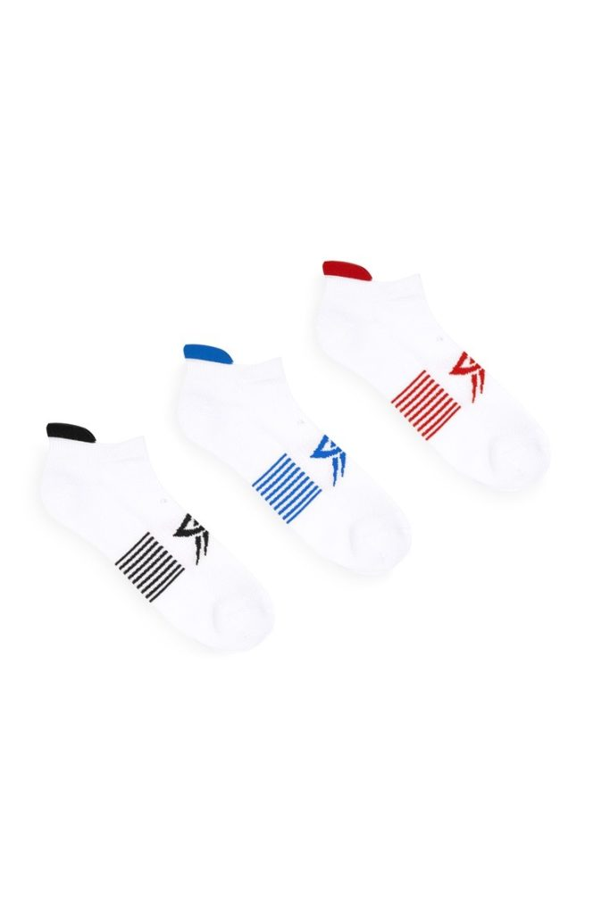 Pack de 3 calcetines blancos
