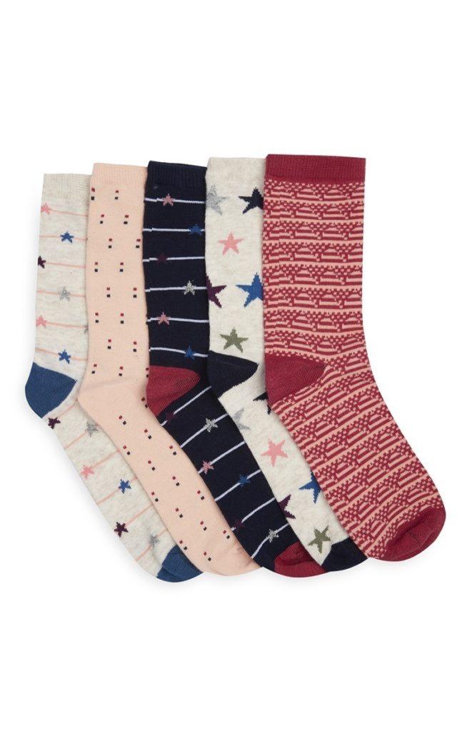 Pack de 5 pares de calcetines variados
