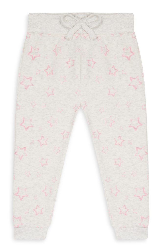 Pantalón chándal con estrellas bebé niña