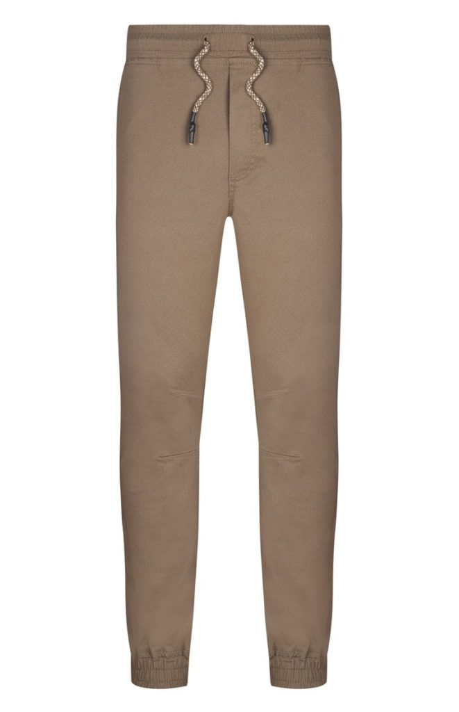 Pantalón con cordón beige