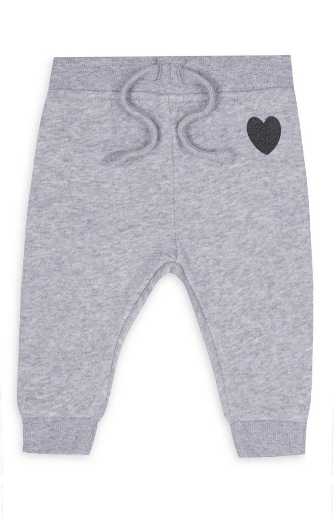 Pantalón de chándal gris de bebé niña