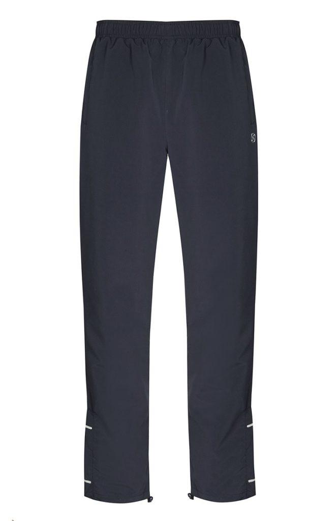 Pantalones azul marino de microfibra