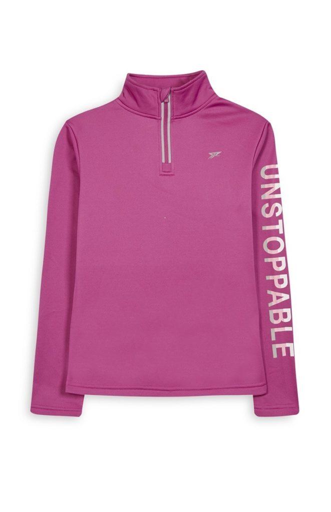 Suéter color rosa para niña mayor