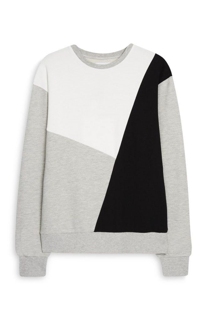 Suéter de color block