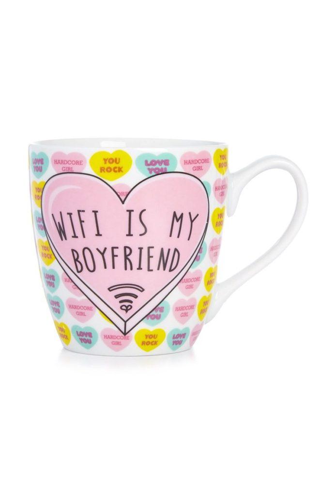 Taza «Wifi is my boyfriend»