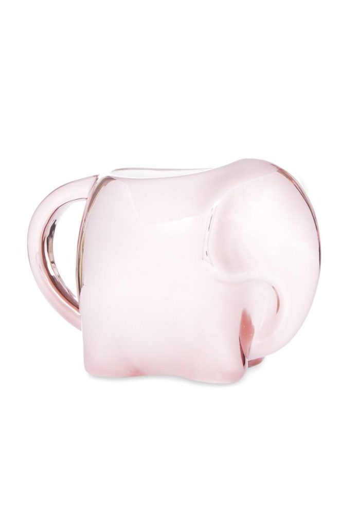 Taza elefante en tono oro rosa