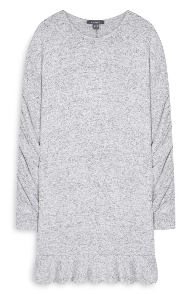 Vestido de Rouched gris