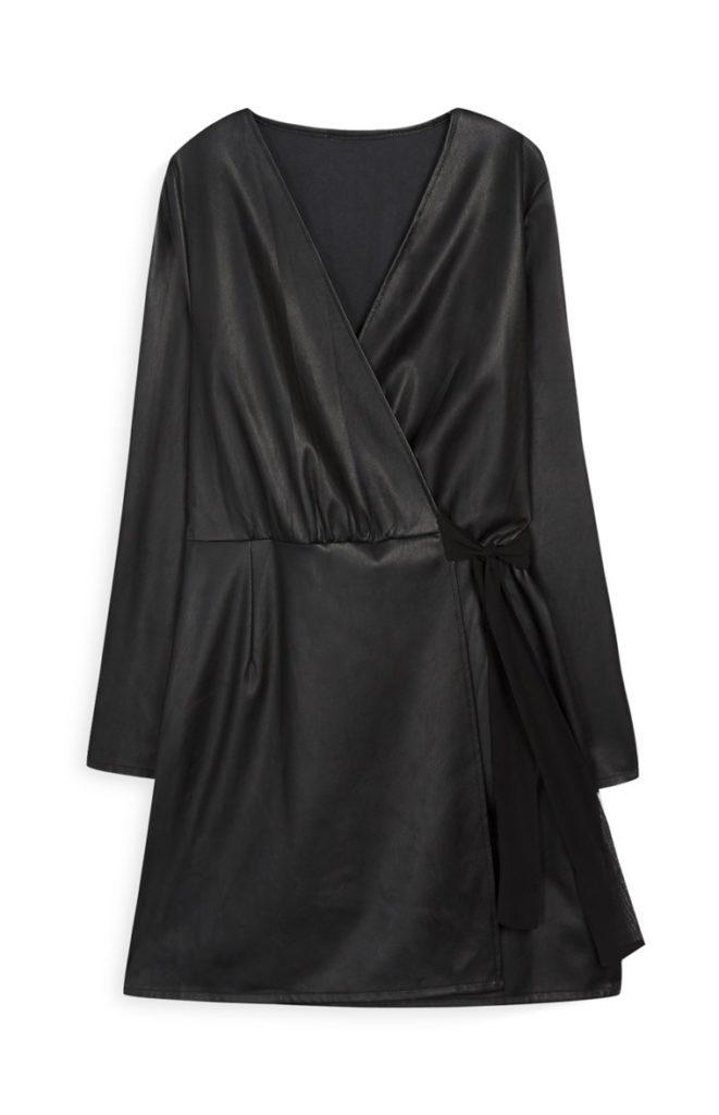 Vestido de abrigo negro
