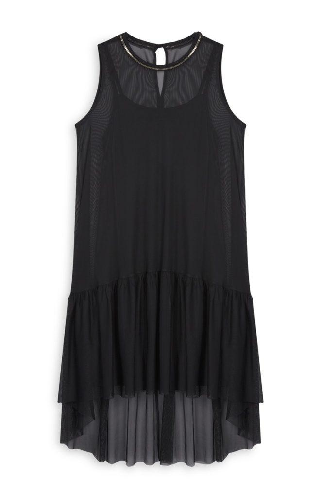 Vestido de malla negro
